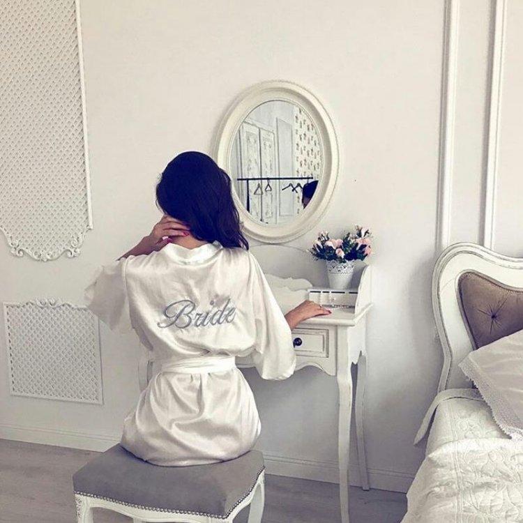 Szlafrok personalizowany Bride