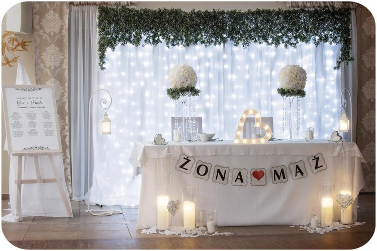 Dekoracja sal weselnych i plenerów