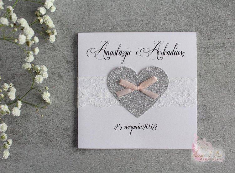 Zaproszenie na ślub - Brocade Heart
