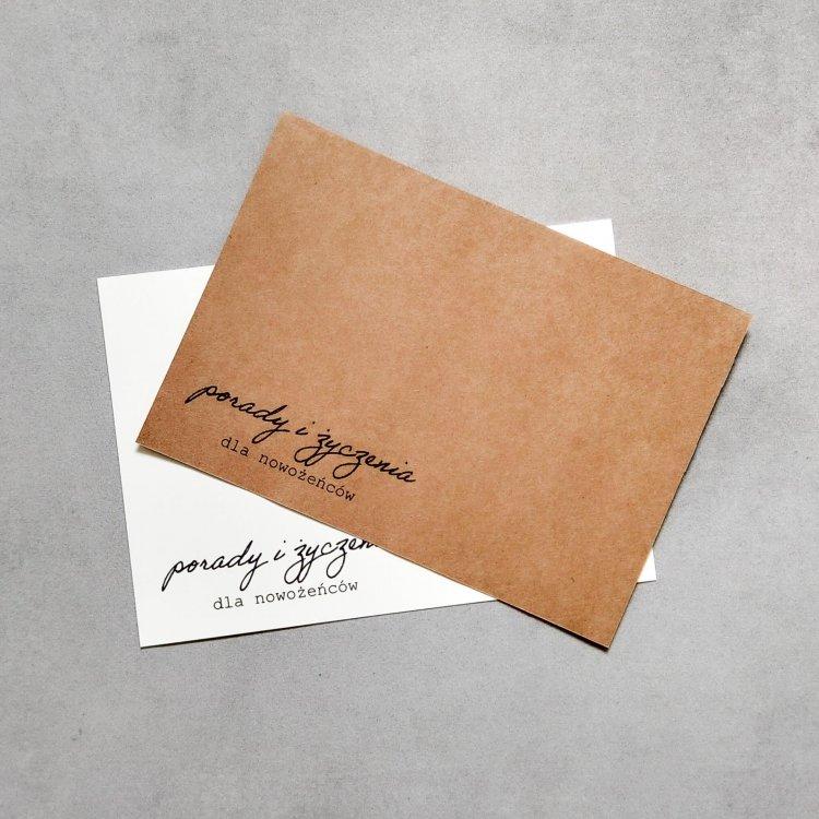 Ślubne karty porad - Proste