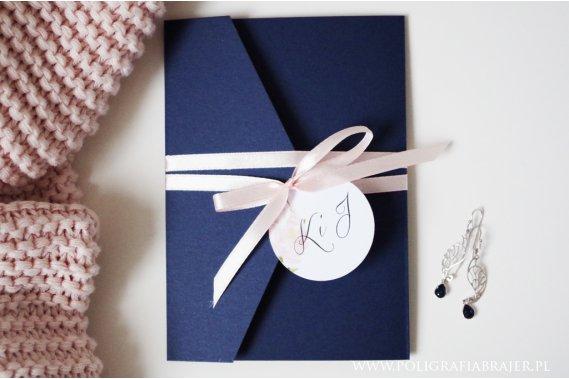 Kopertowe zaproszenia ślubne Zaproszenia Poligrafia Brajer
