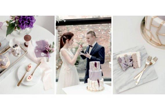 Złote sztućce do wypożyczenia Dekoracje weselne A nuż nie róż - organizacja ślubów z pomysłem
