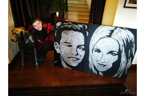 Gwiezdne Show - atrakcja na wesele Artyści Historia Miłosna Młodej Pary/Podziękowania dla Rodziców Malowane Piaskiem na Żywo