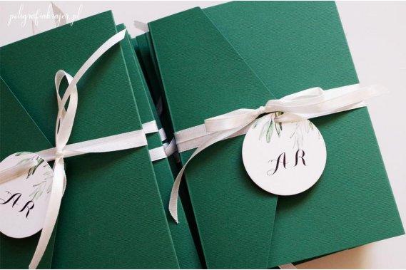 Zaproszenie ślubne kopertowe Zaproszenia Poligrafia Brajer