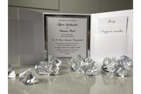 Prestige - Zaproszenia Lustrzsne Zaproszenia Marta Suraha
