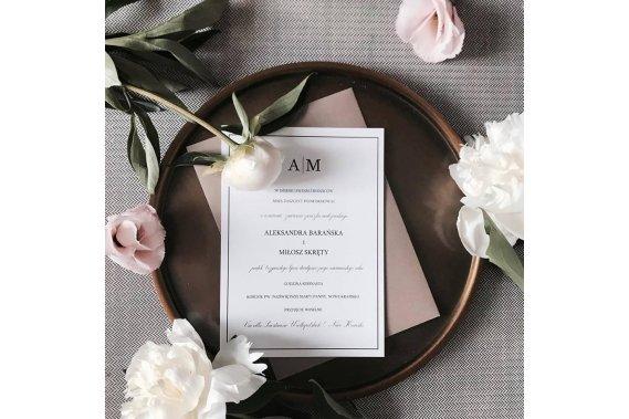 Ślubna klasyka czyli biel i czerń Zaproszenia BOHO DESIGN