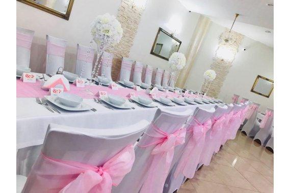 Dekoracja sal weselnych i plenerów Dekoracje weselne Malinowe Skarby