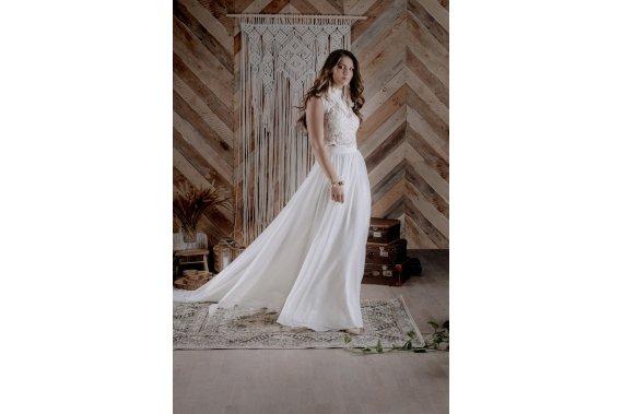 Spódnica ślubna z odczepianym trenem + koronkowa bluzeczka Suknie ślubne KORONKOWESUKNIE