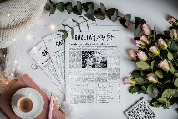 Spersonalizowana Gazeta Weselna | Atrakcja na ślub Pozostałe Gazeta Weselna