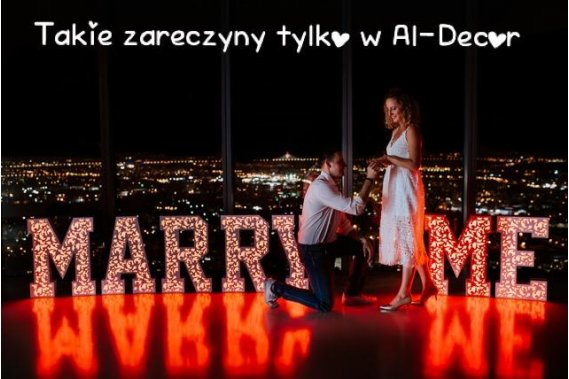 Organizacja Przyjęć, Zaręczyn, Wynajem dekoracji Dekoracje weselne Aldecor
