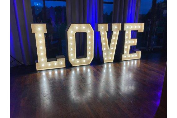 Napis LOVE - płyta OSB, podświetlany, 140cm wysokości! Dekoracje weselne paweljakubowski