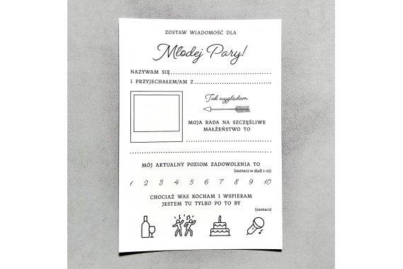 Ślubne karty porad - Premium Pozostałe Weselne pomysły - Ślubne Karty Porad