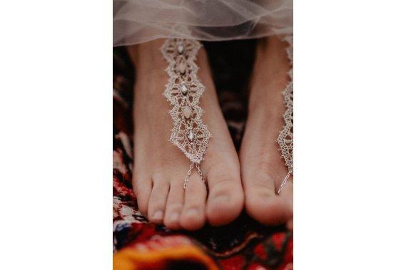 Oryginalne, koronkowe ozdoby na stopy Dodatki Koronki iwogg