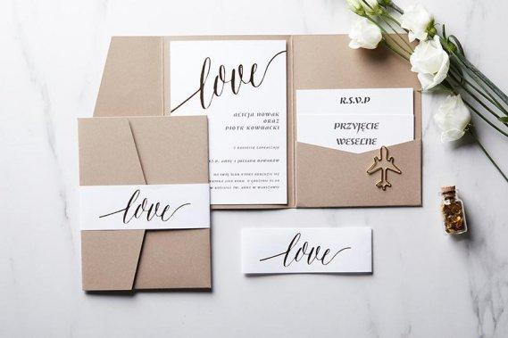 Zaproszenia ślubne CLASSIC LOVE Zaproszenia Love Invitations