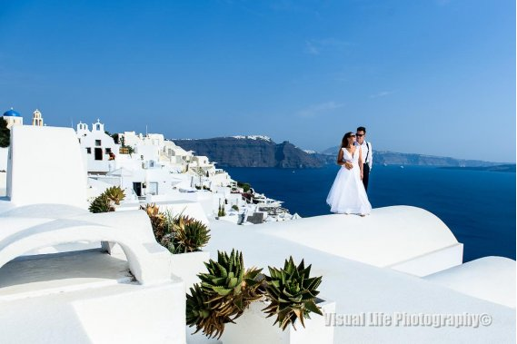 Plenerowe sesje ślubne w słonecznej Grecji Sesja ślubna Visual Life Photography