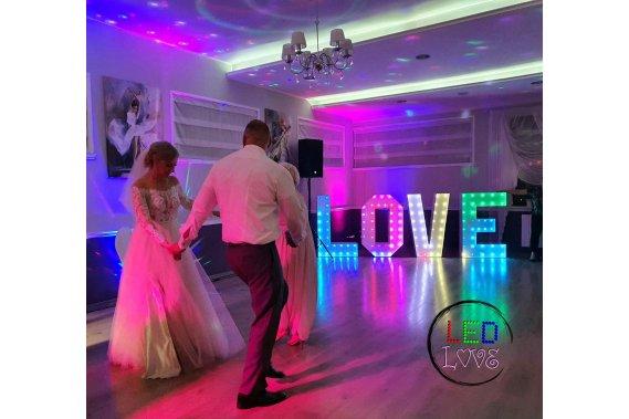 Napis Litery LOVE Dekoracje weselne LedLOVE