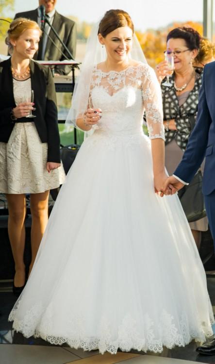 Suknie Suknia ślubna Princess Księżniczka Koronka Bolerko