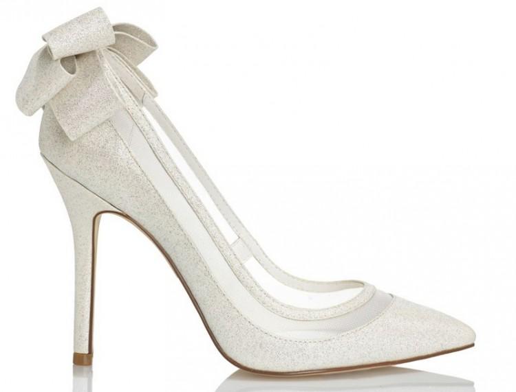 Buty ślubne MENBUR brokatowe kokarda, 39 (500zł sklep)