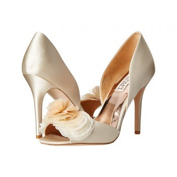 Badgley Mischka Ginseng Ivory Satin