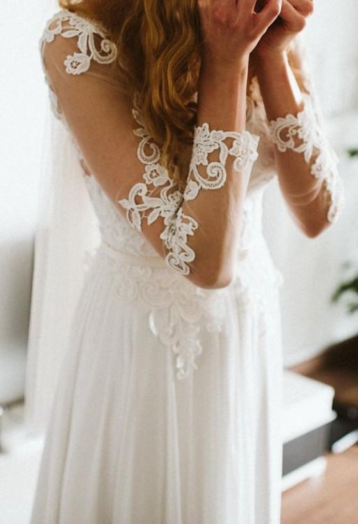 Suknie Suknia ślubna Długi Rękaw Bez Pleców 1 70000zł