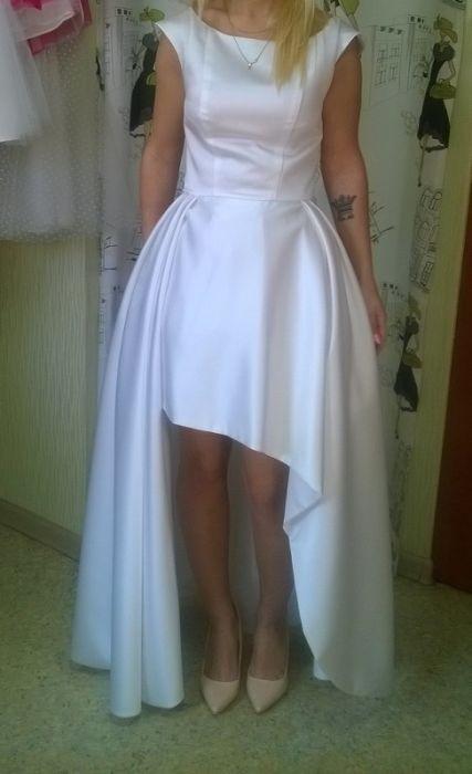 99c98cdeea Preferowane Suknie - Suknia ślubna asymetryczna - 500