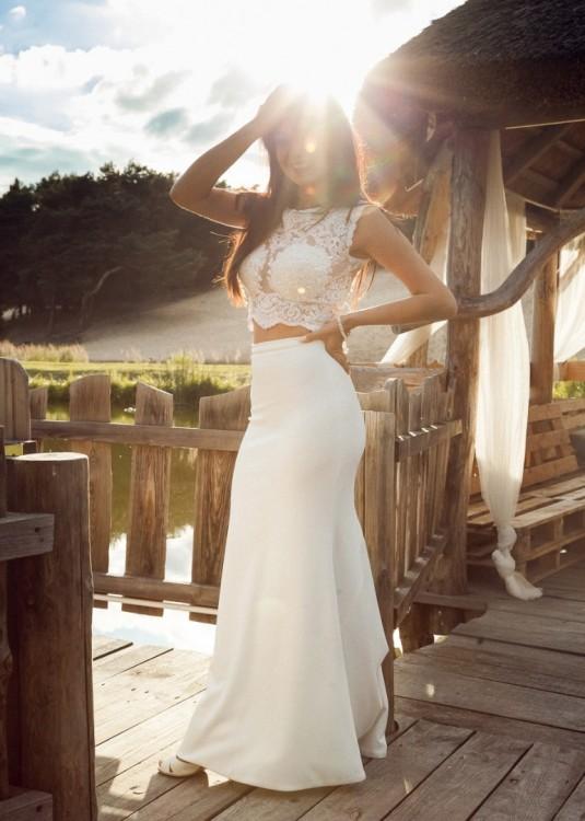 W superbly Suknie - Zjawiskowa, suknia ślubna hiszpańskiej produkcji - 2 400,00zł GY05