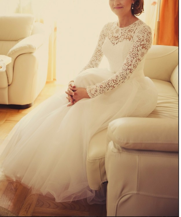 Sprzedam suknię ślubną rozm. M