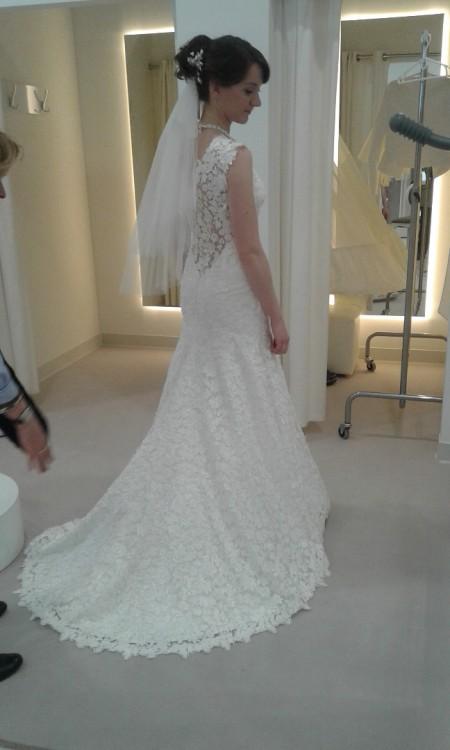 Suknie Przepiękna Suknia ślubna Rybka Koronkowa Z Odpinanym