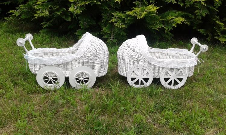 Wózeczki - papierowa wiklina