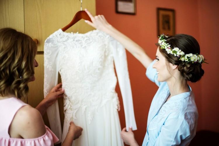 Suknie Suknia ślubna Gala Keira 3436 Zwiewna Lekka Muślin Koronka