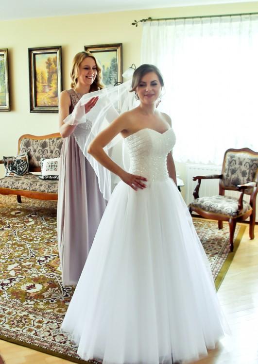Suknie Suknia ślubna Princessa Gorset Z Kryształkami 1 00000zł