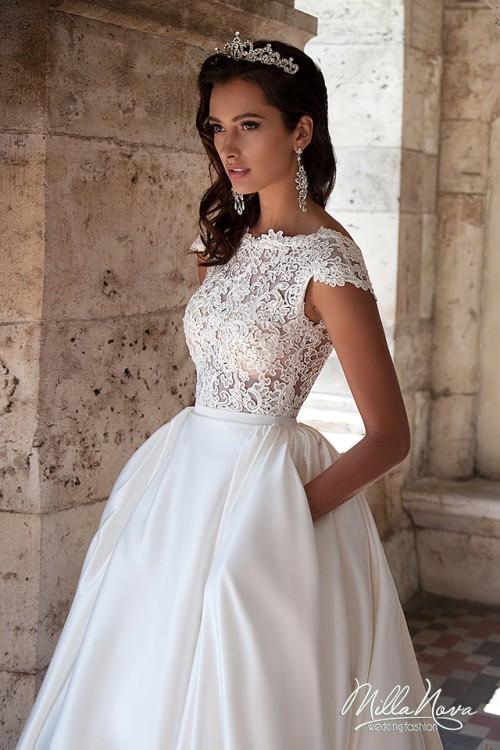 5f974eb0bcc3b Suknie - Piękna suknia ślubna MillaNova roz. 34/36 Koronka - 1 900,00zł