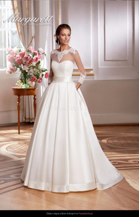 Suknie Piękna Elegancka Suknia ślubna Xxs 32 Xs 34 1 60000zł