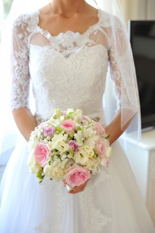 Suknie Piękna Suknia ślubna Sposa Feta Koronka Tiul I
