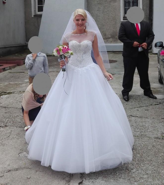 Świeże Suknie - Zjawiskowa suknia ślubna Nadin - 1 200,00zł JC68