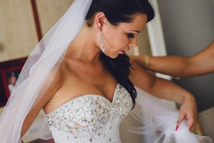 Suknie Suknia ślubna Delikatna Księżniczka Gorset Z Kamieni 2