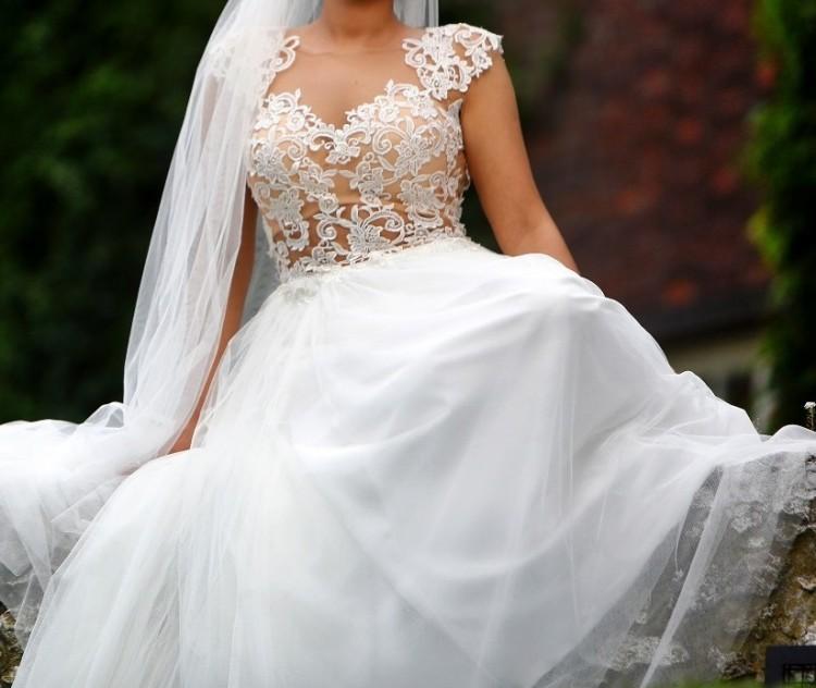 Ogromnie Suknie - Zjawiskowa suknia ślubna roz. 36/38 - 1 500,00zł CM69