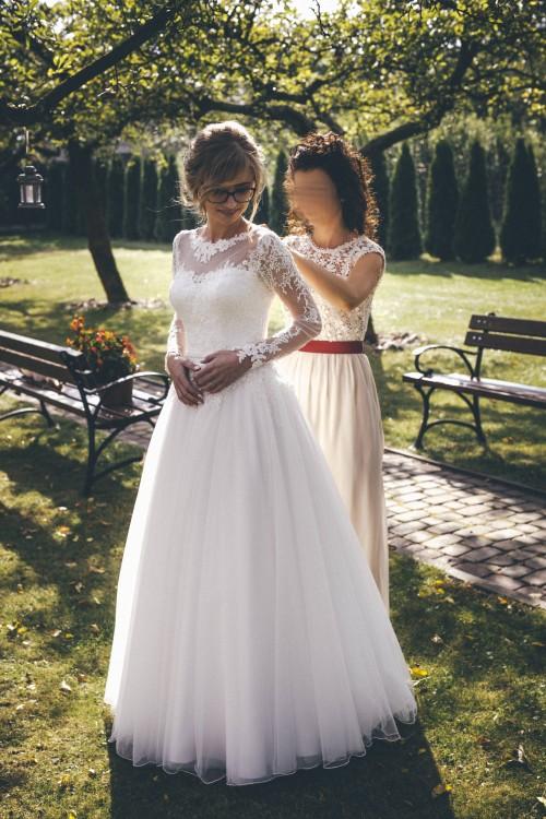 Suknie Rustykalna Suknia ślubna Boho Z Długim Rękawem 2 00000zł