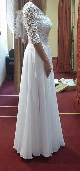 31c13e7191 Suknie - Oryginalna suknia ślubna 2w1 xs - 1 500