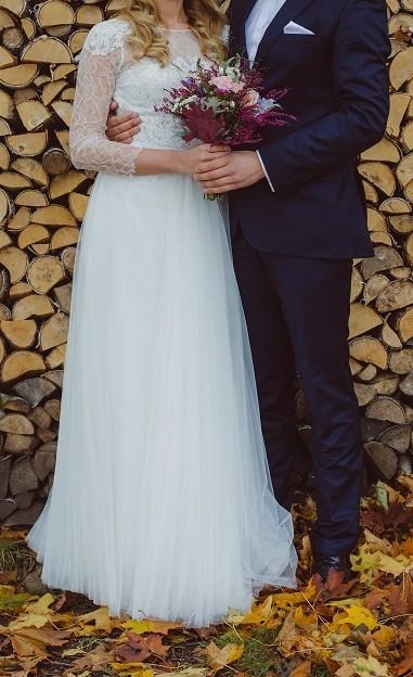 Suknia ślubna Anna Kara JOY 38/40 za 2000zł+2 GRATISY