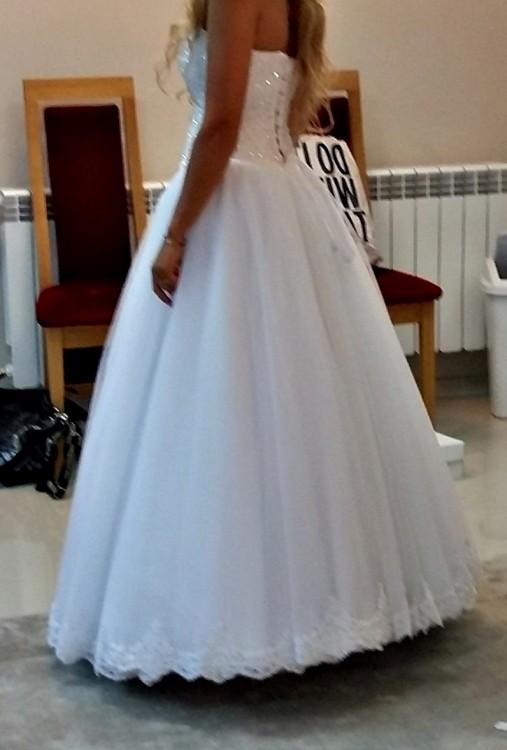 Suknie Suknia ślubna Princessa Gorset Perełki Koronka 36 99900zł