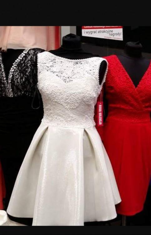 5a7d4ea9e8 Suknie - Sukienka biała - 190