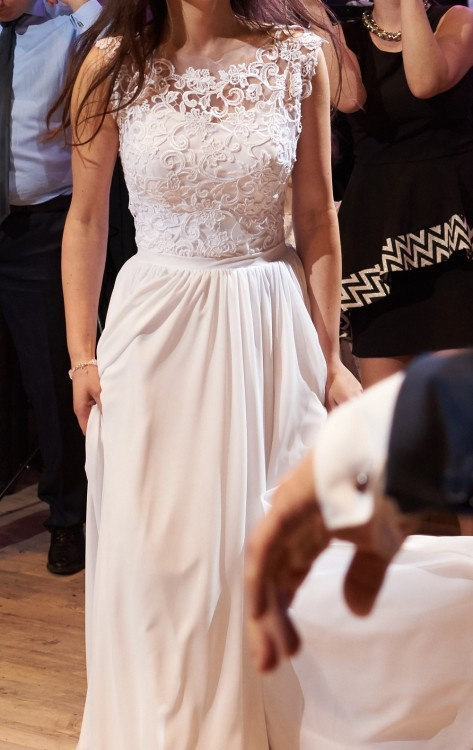 Suknie Suknia ślubna Biała Długa Koronkowa 34 36 89900zł