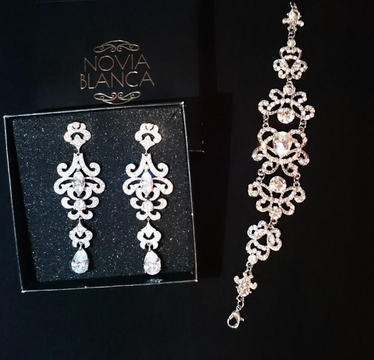 Kolczyki Novia Blanca + bransoletka