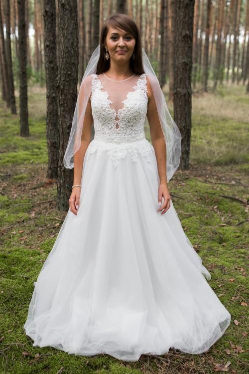 Suknie Suknia ślubna W Kolorze Ivory Hiszpański Tiul 2 00000zł