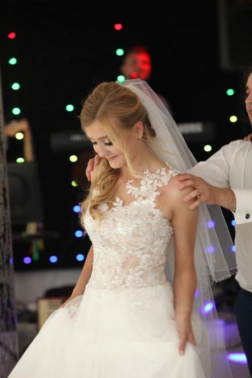 Suknie Zjawiskowa Suknia ślubna Ms Moda Shakira Welon 1 20000zł