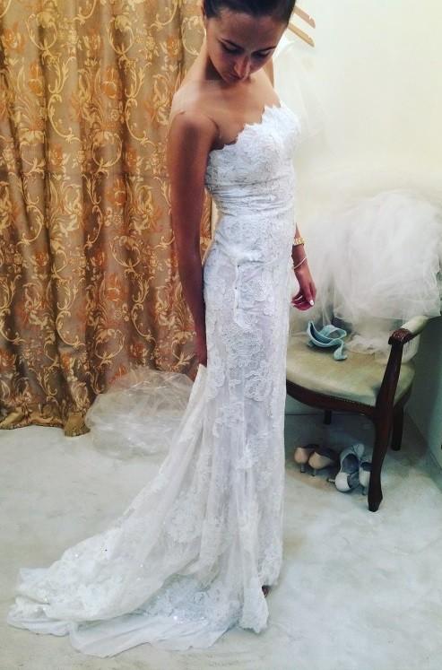 6cbb73eae57 Suknie - Koronkowa, dopasowana suknia ślubna boho rustykalna - 2 900 ...