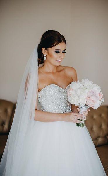 Suknie Piękna Suknia ślubna Zdobny Gorset Księżniczka 3 80000zł