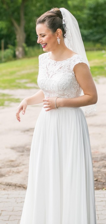 Suknie Delikatna Suknia ślubna Idealna Na ślub W Stylu Boho 1