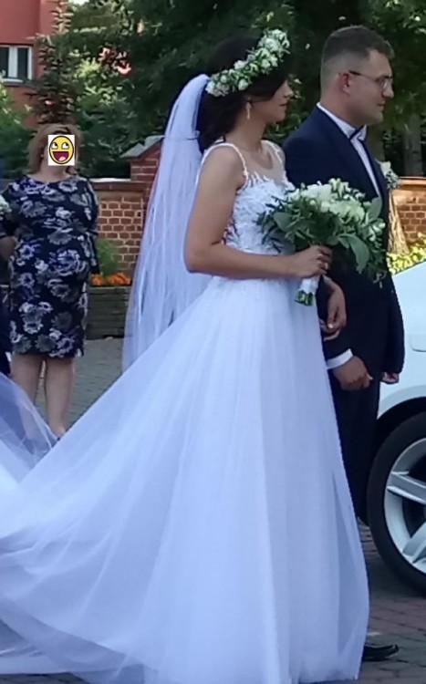 7c701575b0 Suknie - suknia ślubna z kolekcji Agnes 2018 2019 + 2 welony - 2 200 ...